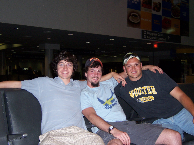 "Adam, Rob, and Todd ""chillaxin'"" at Logan"