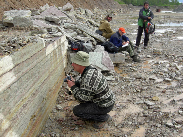 Cut surface through Ordovician section, Babino Quarry.