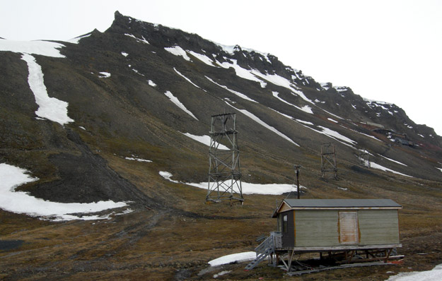 Abandoned coal mine outside of Longyearbyen, Svalbard, Norway.
