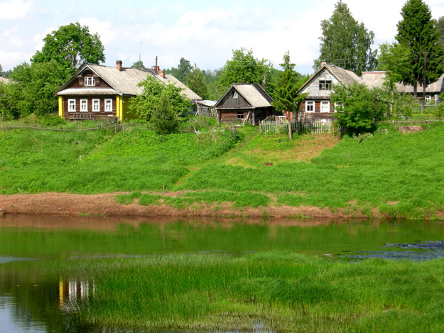 Village on the Sass River.