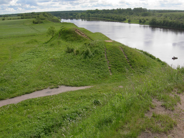 Viking burial mounds along the Volkhov River.