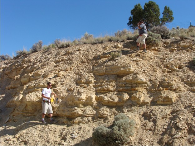 Phil and Bill are working their way through Temple Hill's stratigraphy.