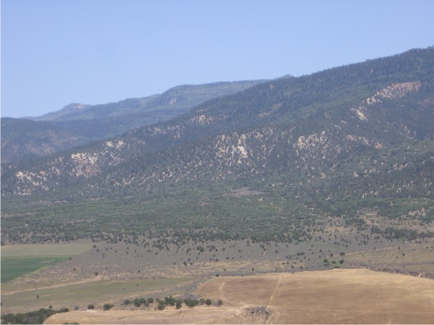 View to the NE of the Sanpete Valley and adjacent Wasatch Plateau.