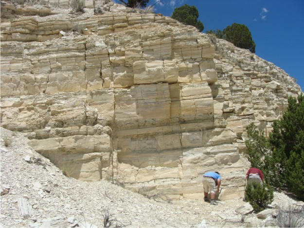 Here's a view of one of the larger quarries on White Hill.  Bill and Phil are in the photo for scale.