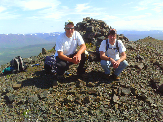 Rob and Todd claim a mountain for the USA.