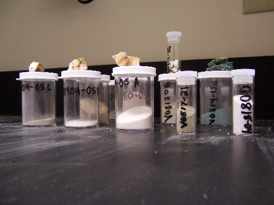 Pretty rock powders in neat little vials.