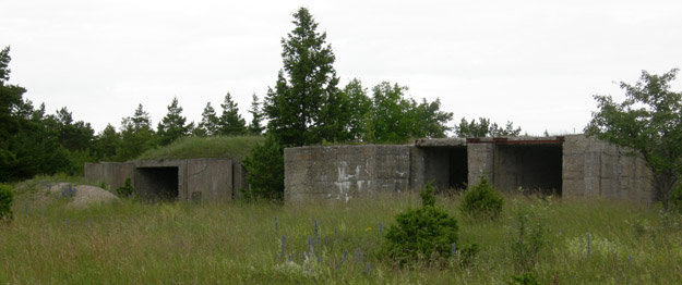 Soviet bunkers which once housed anti-aircraft missile batteries near Suuriku Cliff, northern Saaremaa, Estonia.