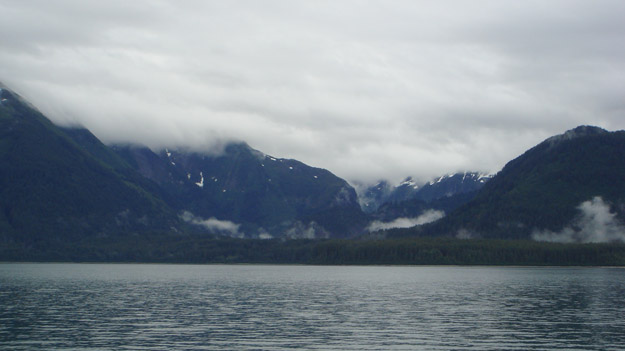 The Fairweather Range, as viewed from the Capelin.