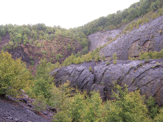 Bear Valley Strip Mine. Notice the person in the yellow jacket (center of the picture) for scale.