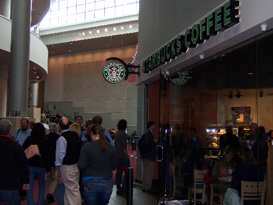 Figure 1. The Starbucks in the conference center is arguably the busiest spot in the entire building.