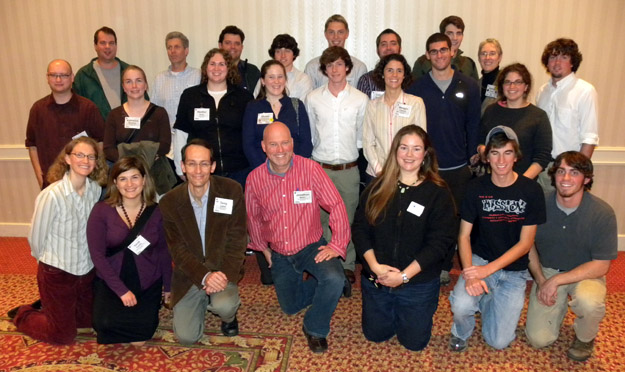 Wooster Geology alumni, faculty and friends at the Geological Society of America annual meeting.  A wonderful set of people!  This may be only half, though, of the Wooster alumni at the meeting.
