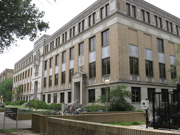 Halbouty Geosciences Building on the campus of Texas A&M University