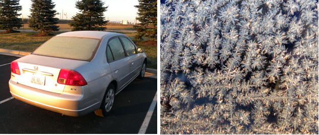 ... when your car is well frosted.