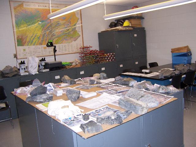 Diabase samples
