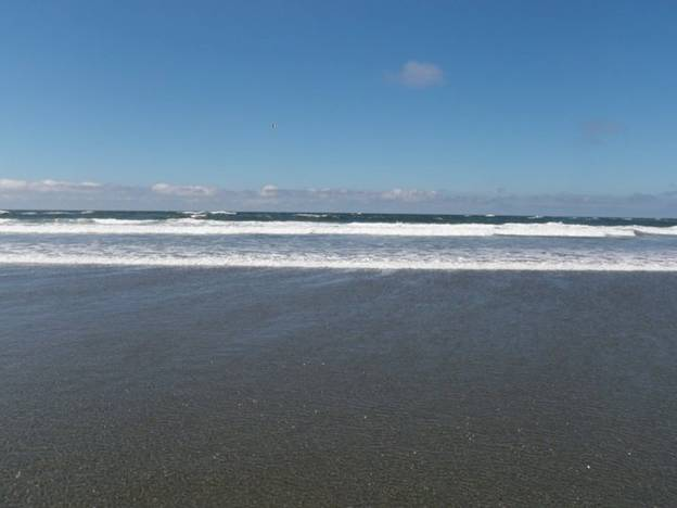 From Ohio to the west coast. A view of the Pacific Ocean near Ocean Shores, Washington.