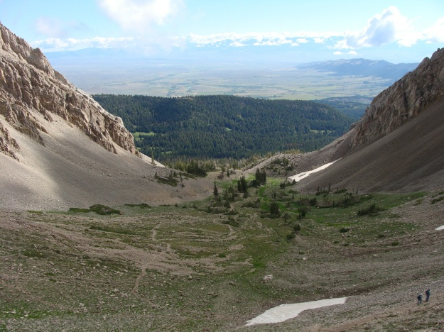 The photo above illustrates the magnificent view that you have from the Saddle. (View to the west)