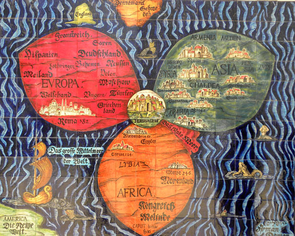 Wooster geologists blog archive wooster geologists at the center when we say that jerusalem is the center of the world we are following a medieval tradition illustrated by this european manuscript page reproduced as a gumiabroncs Choice Image