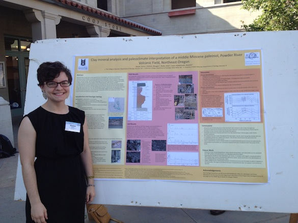 Anna Mudd ('13) presented her work on paleosols in the Powder River volcanic field.