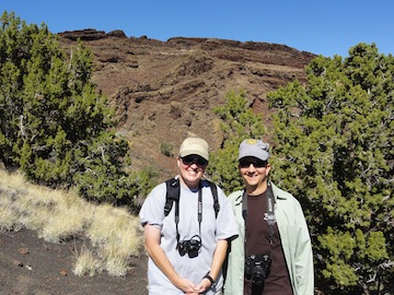Shelley Judge and Dave Ramsey bumped into eachother at the conference on Volcanism in the American Southwest. Both are alumni of the same undergraduate geology program!