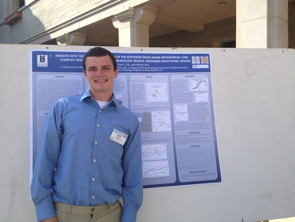 Joe Wilch ('13) presented his work on the thermochronology of muscovites and K-feldspar in the Snake Range.