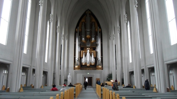Interior of Hallgrinskirkja. Photo Credit: Alex Hiatt