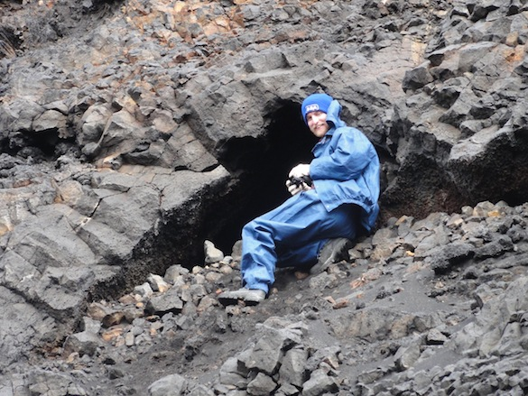 As we explored the walls, we found a lava cave. Alex Hiatt ('14) snapped a photo of the hibernating lava bears for Dr. Wilson.
