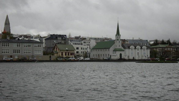 A view of Reykjavik across City Pond. Photo Credit: Alex Hiatt
