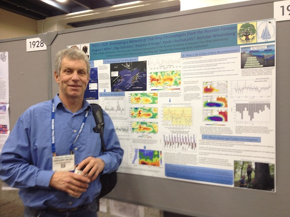 Dr. Greg Wiles presented the work that he and his collaborators have been doing in Russia. They are constructing tree-ring records to understand decadal variability in climate.