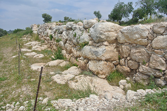 Khirbet Qeiyafa city wall 041314