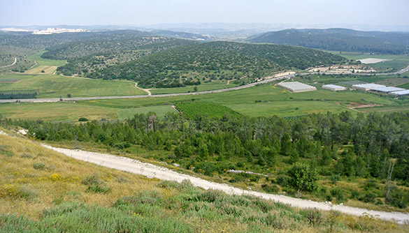 Valley of Elah from Tel Azeka 041314