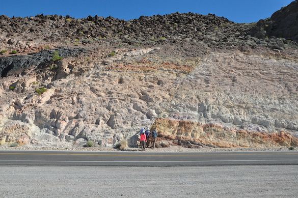 Check out the fault at Resting Springs Pass.
