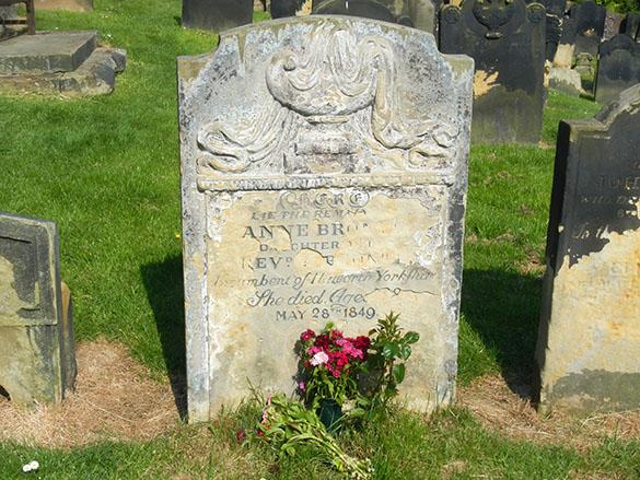 10 Anne Bronte gravestone