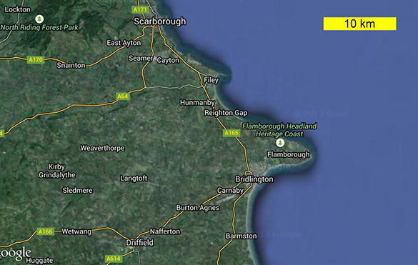 Flamborough Google Map