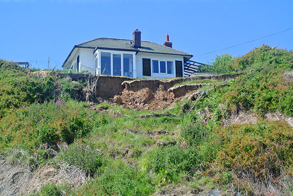 House with erosion problem