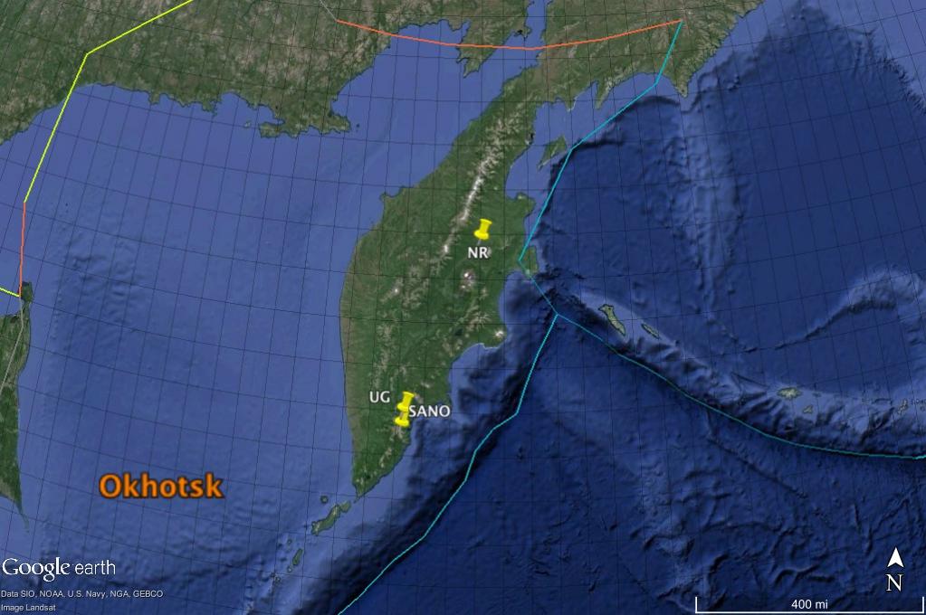 Kamchatka Peninsula GE
