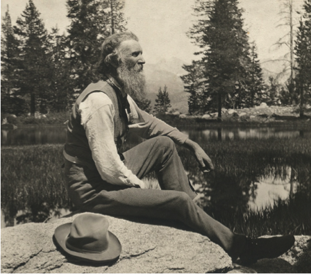 John Muir in Sierra Nevada, courtesy of PBS.