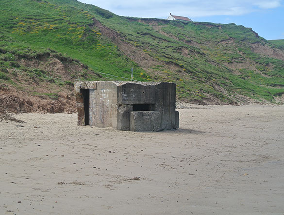 a Beached pillbox closer