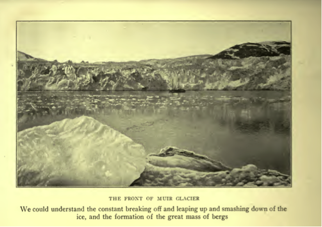 Photograph of Muir Glacier from Alaska Days With John Muir.