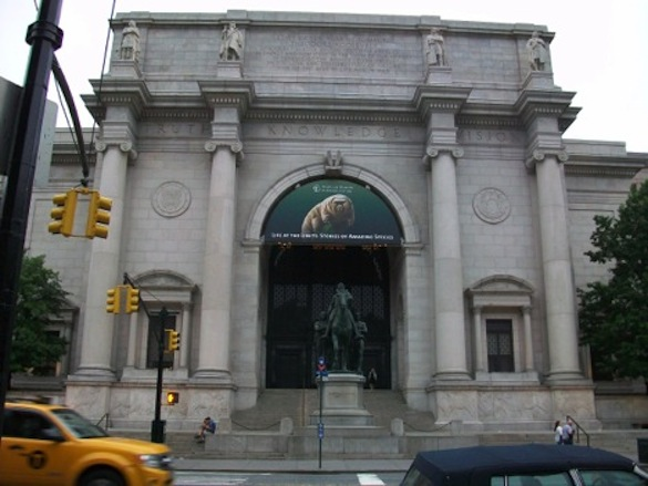 Front entrance of the American Museum of Natural History (AMNH).