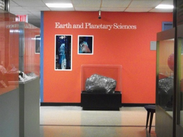 Entrance to the Earth and Planetary Sciences Department, AMNH.