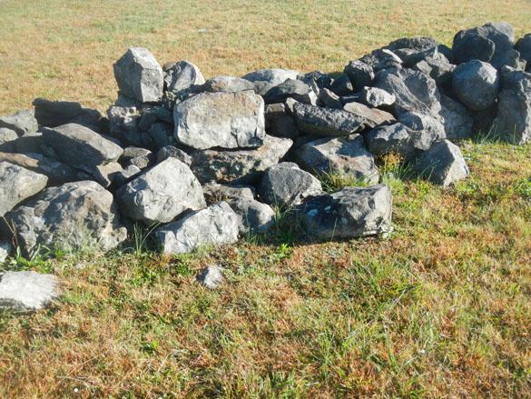 3 Diabase stone wall Gettysburg
