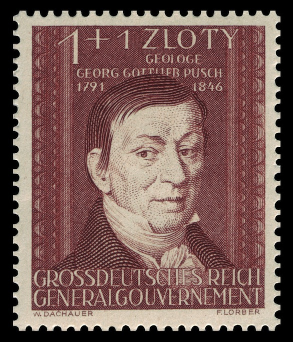3 Gottlieb Pusch on 1944 Nazi stamp