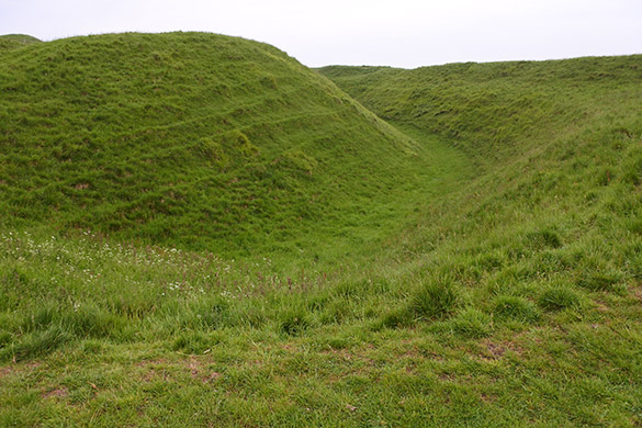 4 Maiden Castle ramparts