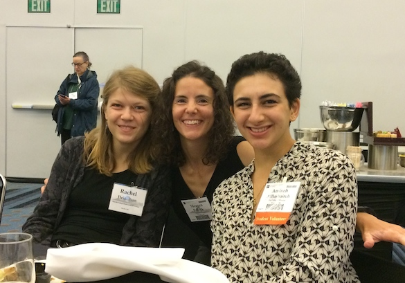 Me and my research students, Rachel Heineman ('17, Oberlin) and Amineh AlBashaireh ('18), at the AWG breakfast. My students had the opportunity to network with lots of influential mentors, including a CUR Councilor, GSA Fellow, potential graduate advisors, and the Outstanding Educator Award Winner.